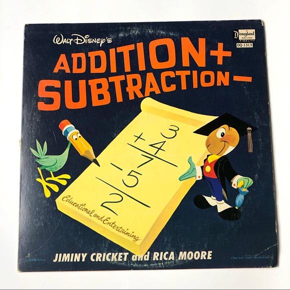 Walt Disney Addition + Subtraction 1963 Record